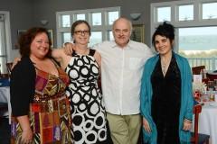 Amy Collins, Dana Whittle, Claude Methe, Denise Levac @ wedding